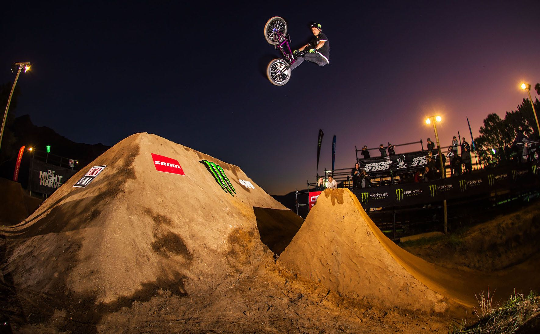 Kyle Baldock winning the Night Harvest 2018 BMX event