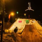 Tobi Merz BMX action from the 2018 The Night Harvest dirt contest