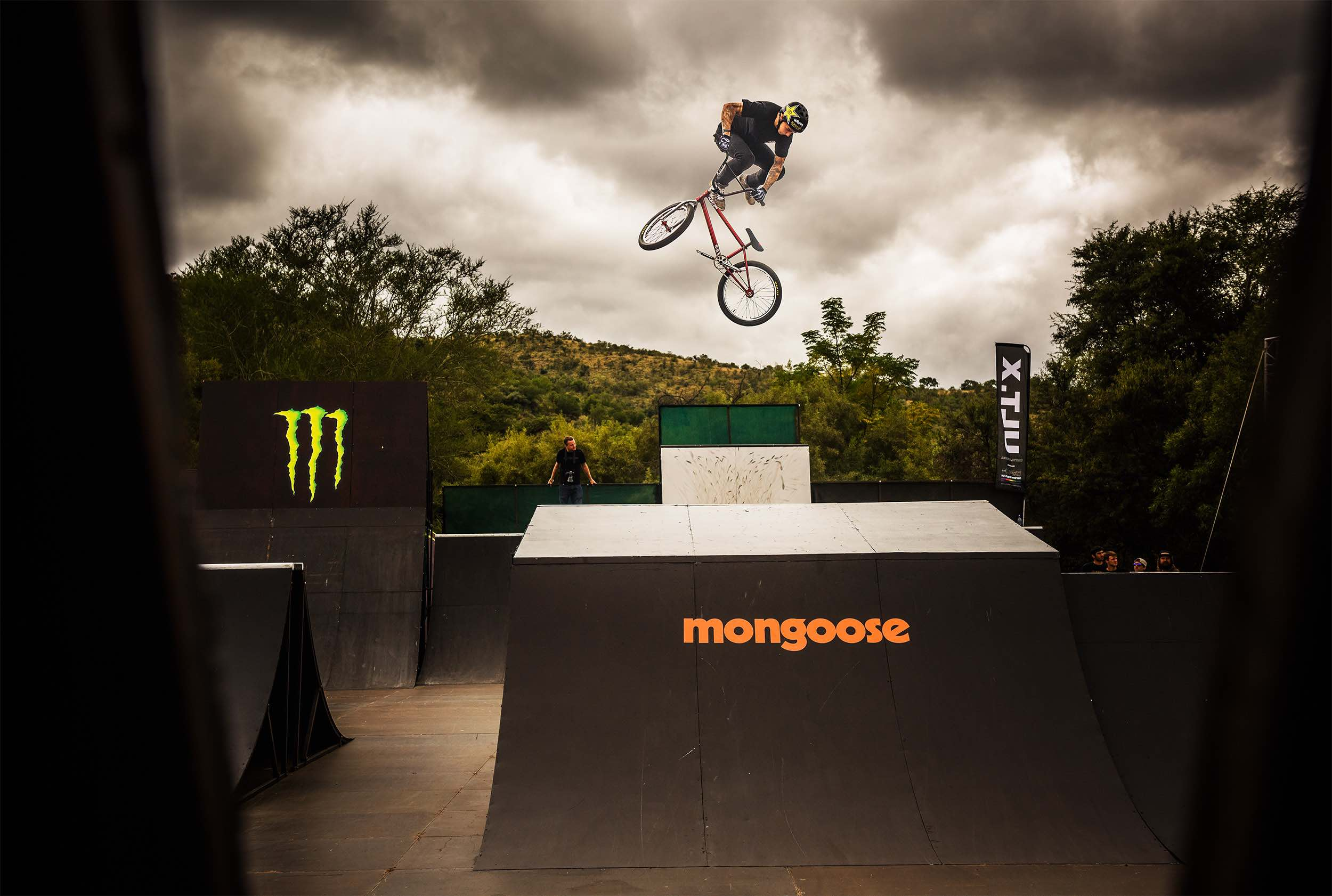 Logan Martin competing in the BMX contest at ULT.X 2018