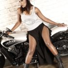 Meet Mandy Kgobe at the South Africa Bike festival representing Indian Motorcycle