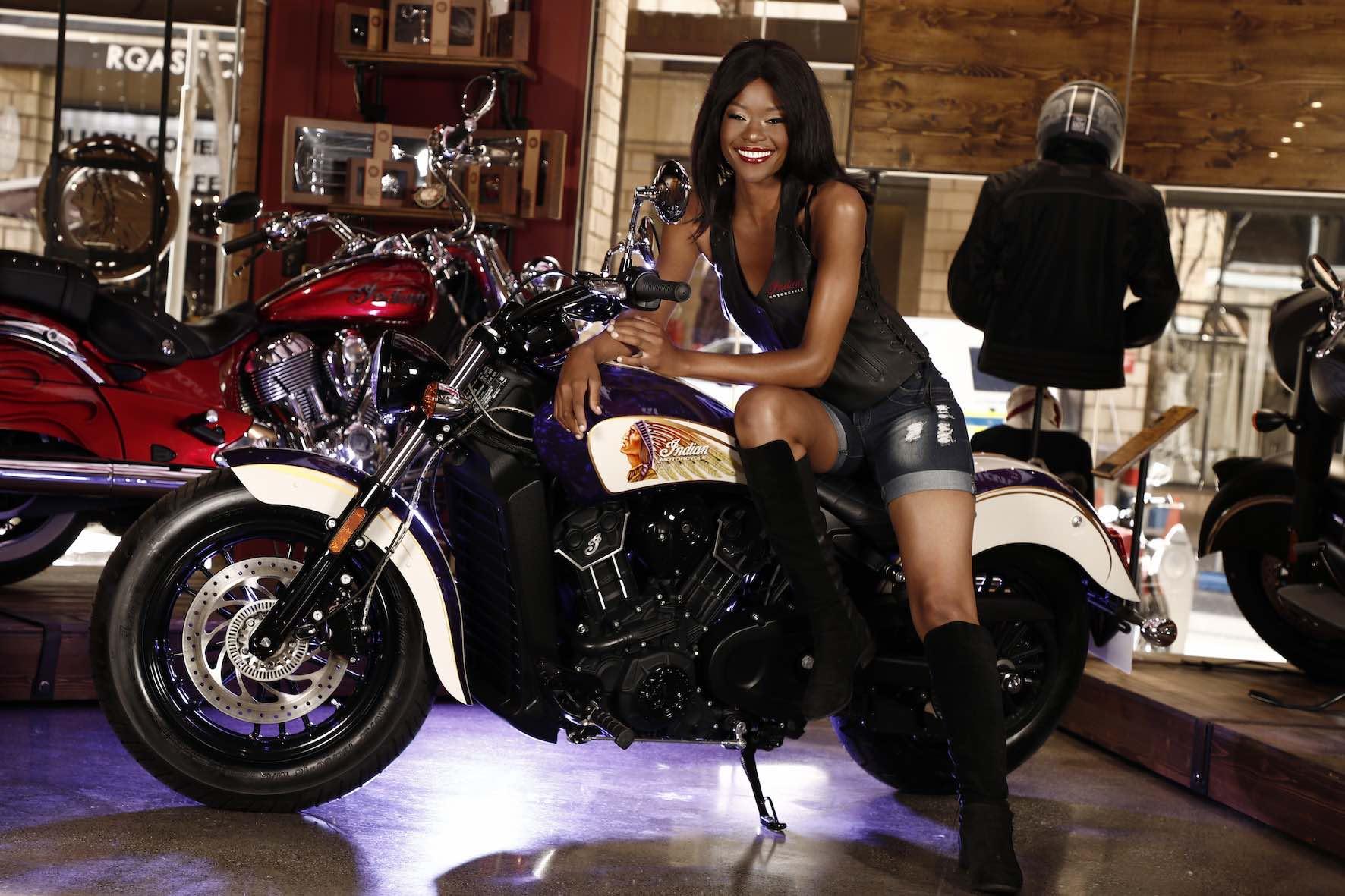 Meet Indian Motorcycle Vixens, Keipeile Dintoe