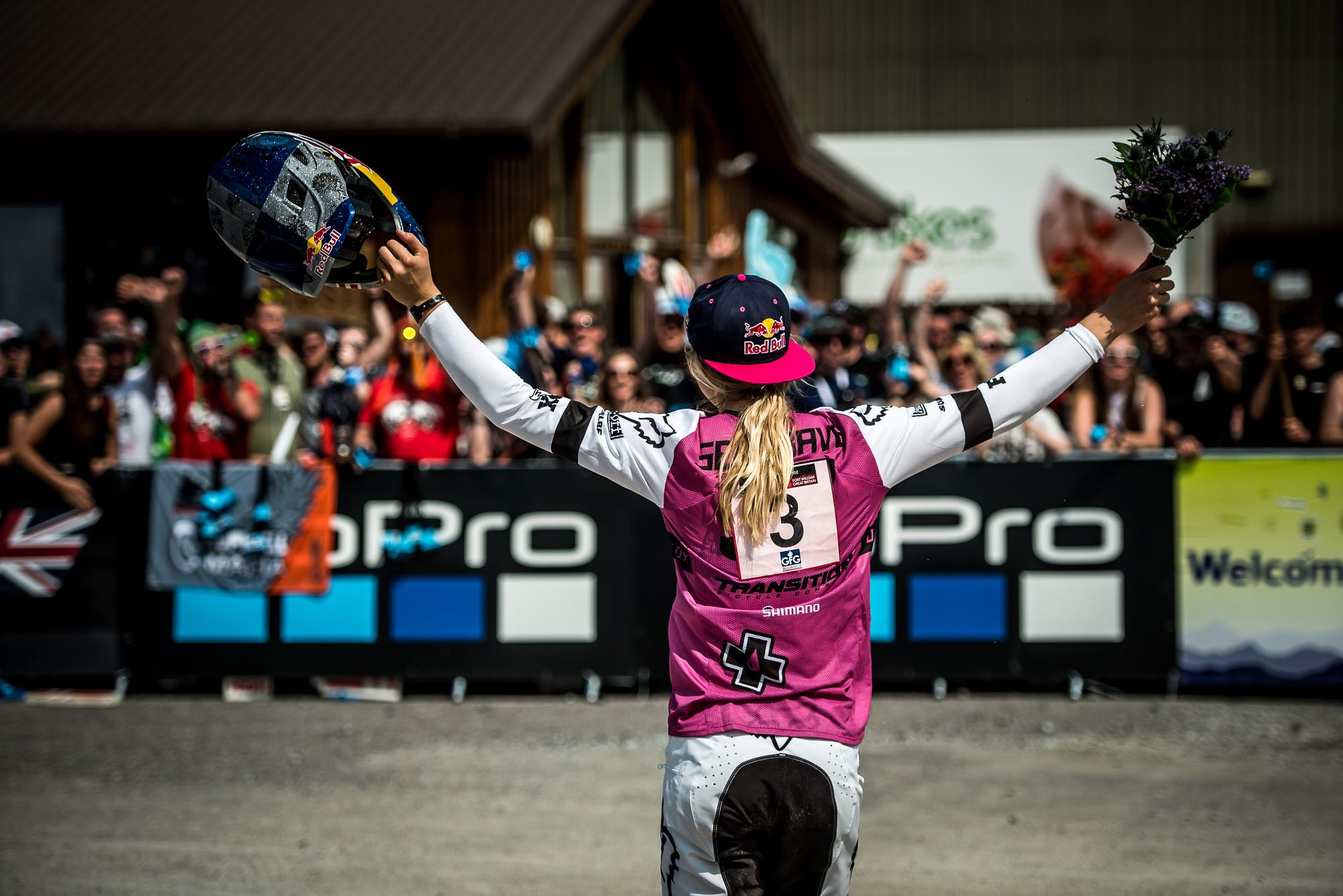 Tahnee Seagrave wins the Women's Downhill MTB world cup in Fort William Scotland