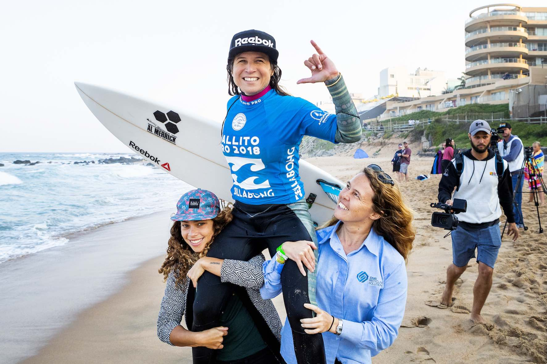 Sofia Mulanovich surfing her way to victory at the 2018 Ballito Women's Pro