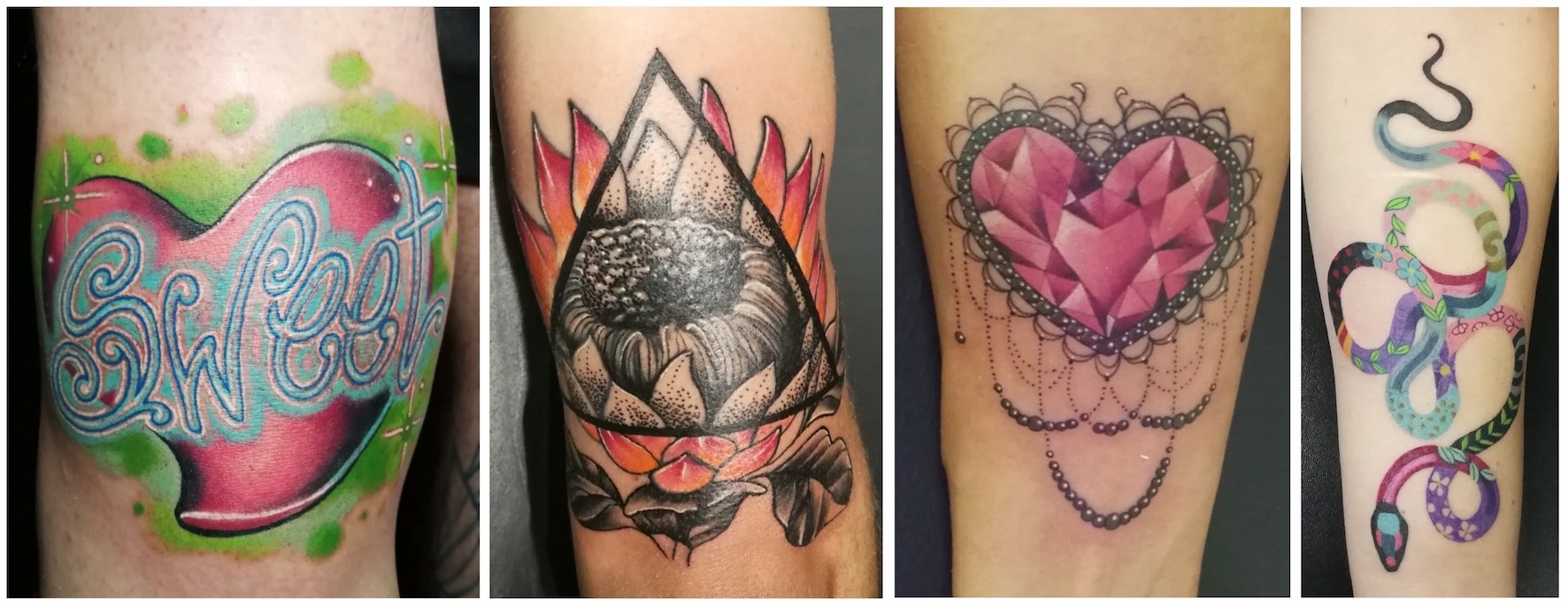 A selection of tattoos done by Chelsea-Rae Marsh