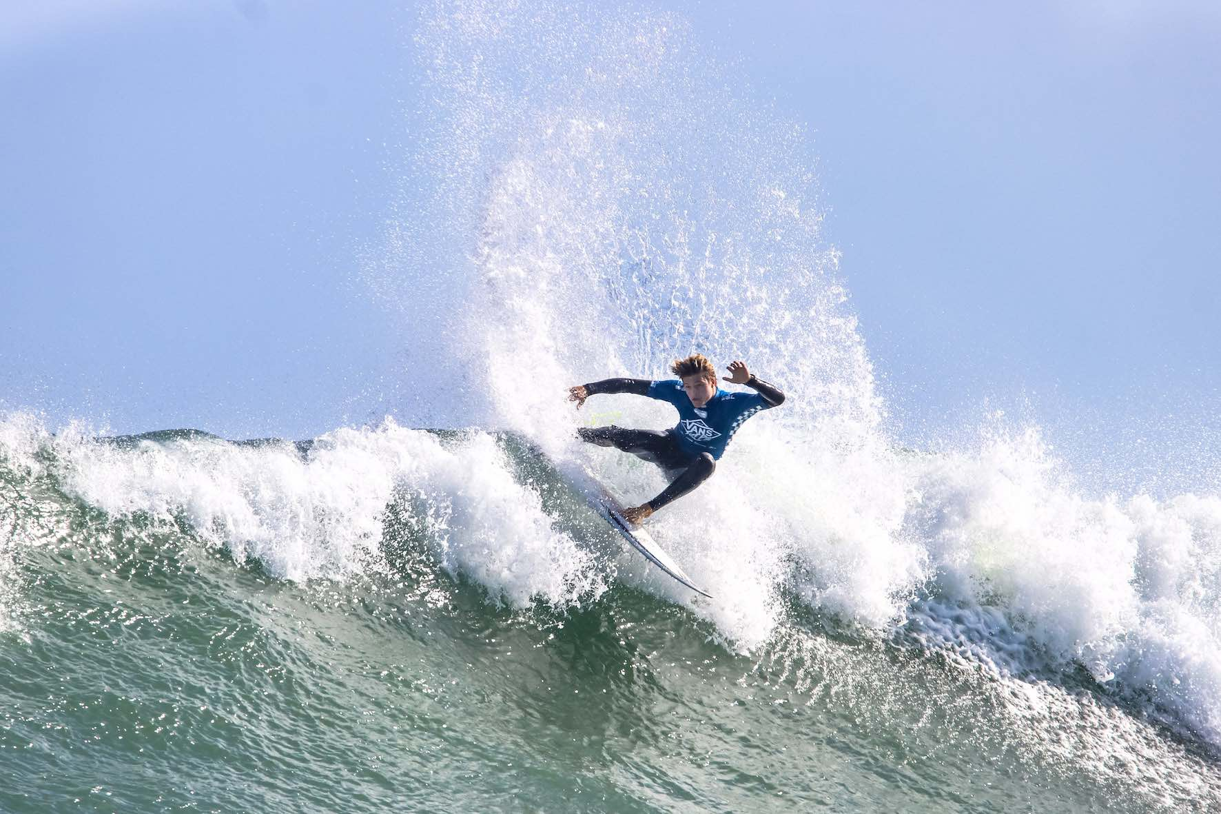 Eli Beukes surfing in the Vans Surf Pro Classic