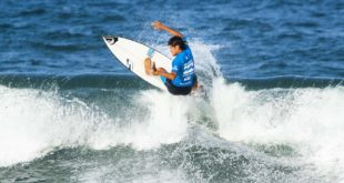 Rio Waida surfing his way to victory at the Bilabing Junior Series in Ballito