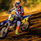 Ian Topliss taking the win in the MX3 class at the Motocross Nationals
