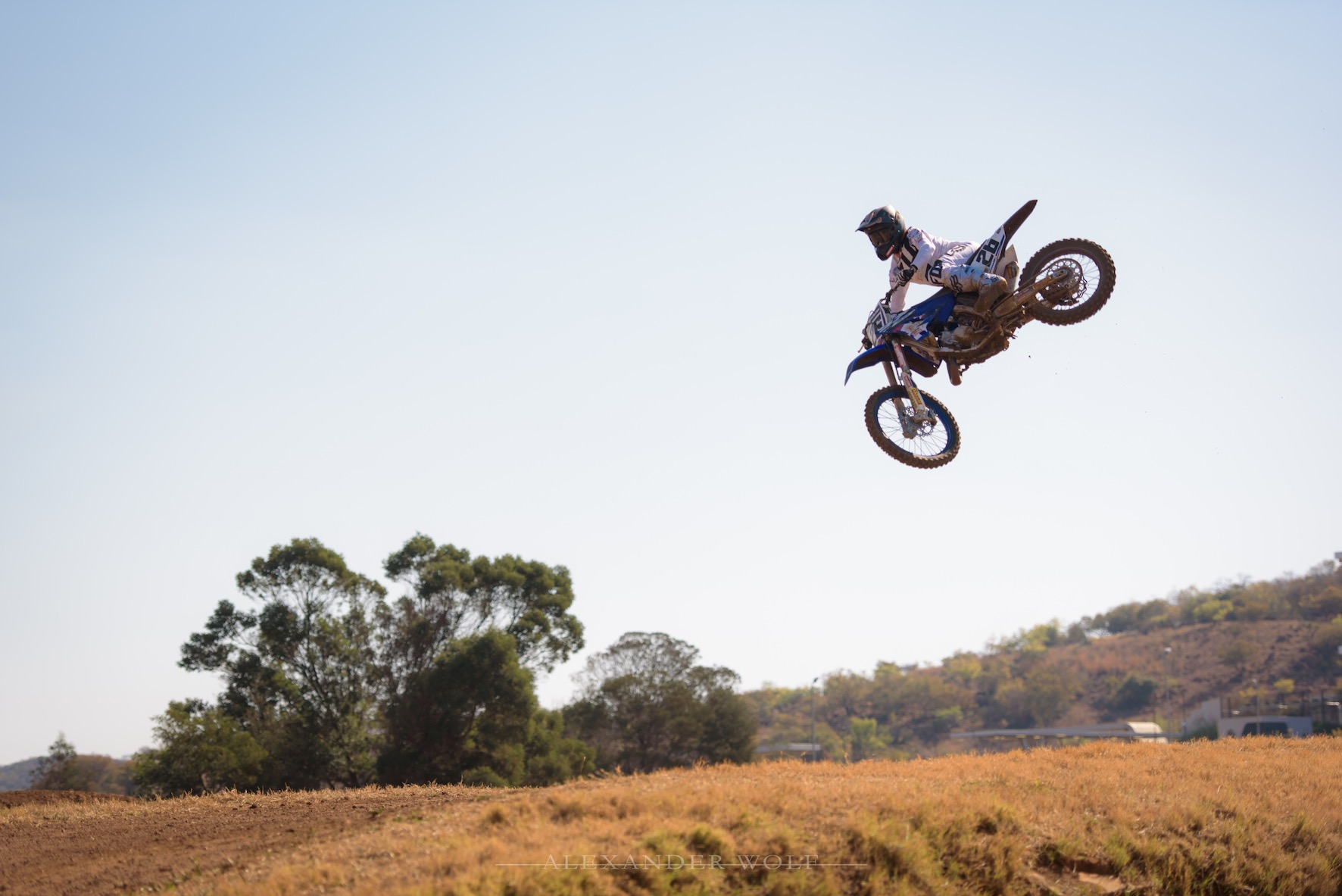 Miguel de Waal training for the upcoming MX Nationals
