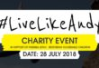 The #LiveLikeAndy Charity Music Event takes place in Durban