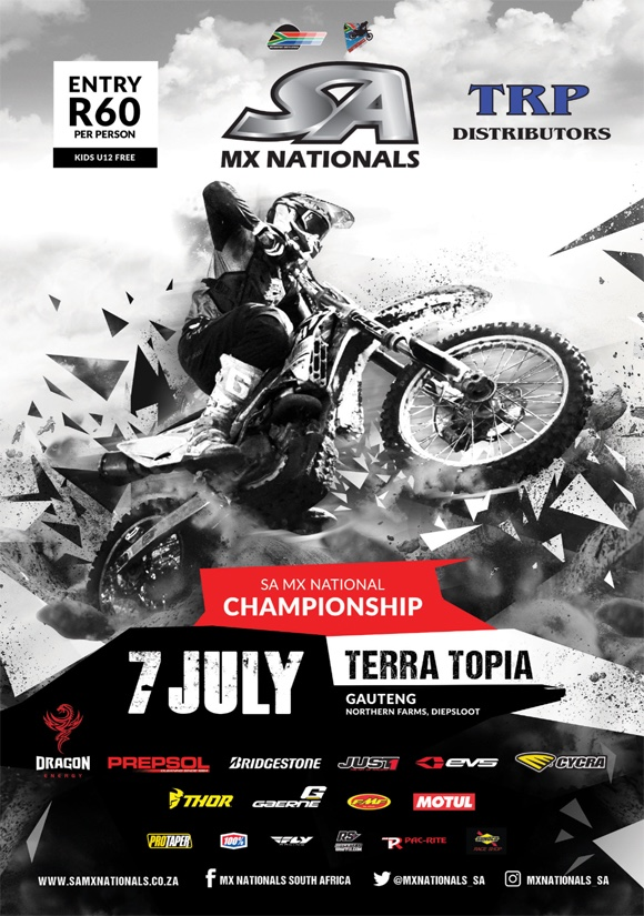 Details for Round 4 of the 2018 TRP Distributors SA Motocross National Championship taking place at Terra Topia in Johannesburg.