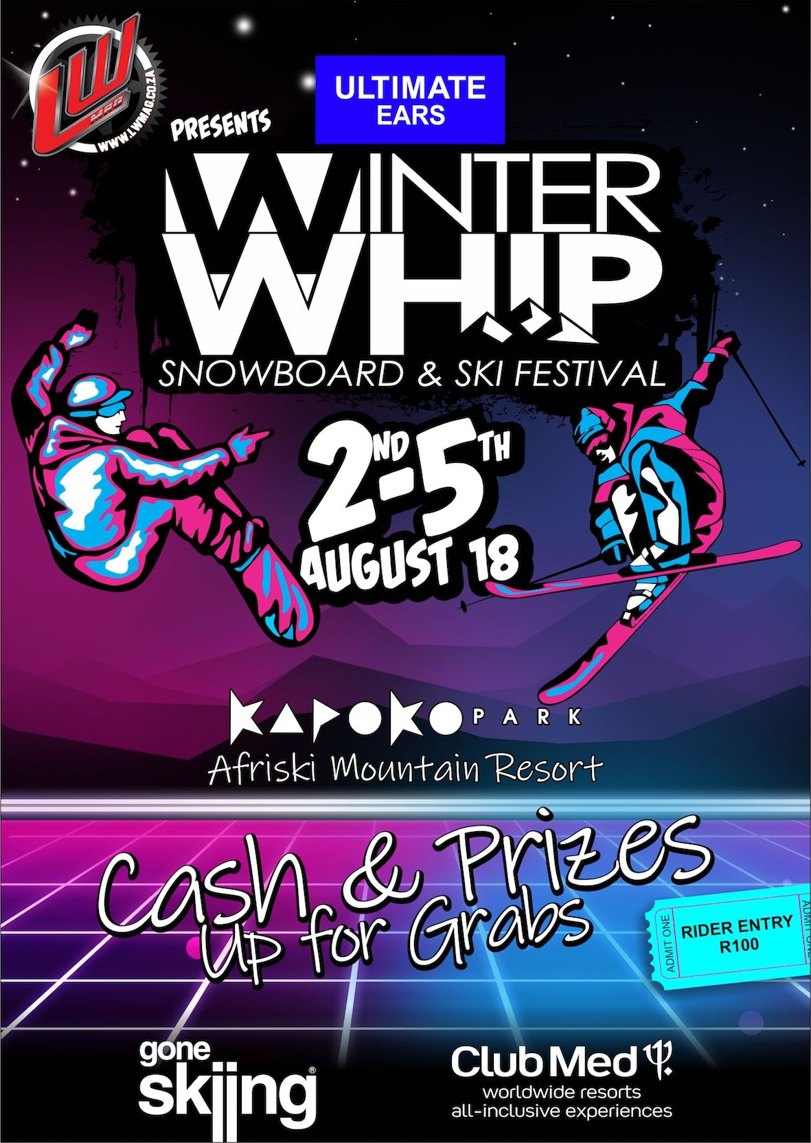 The 2018 #UltimateEarsWinterWhip Snowboard and Ski Festival is set to host Africa's top Snowboarders and Skiers in Lesotho.