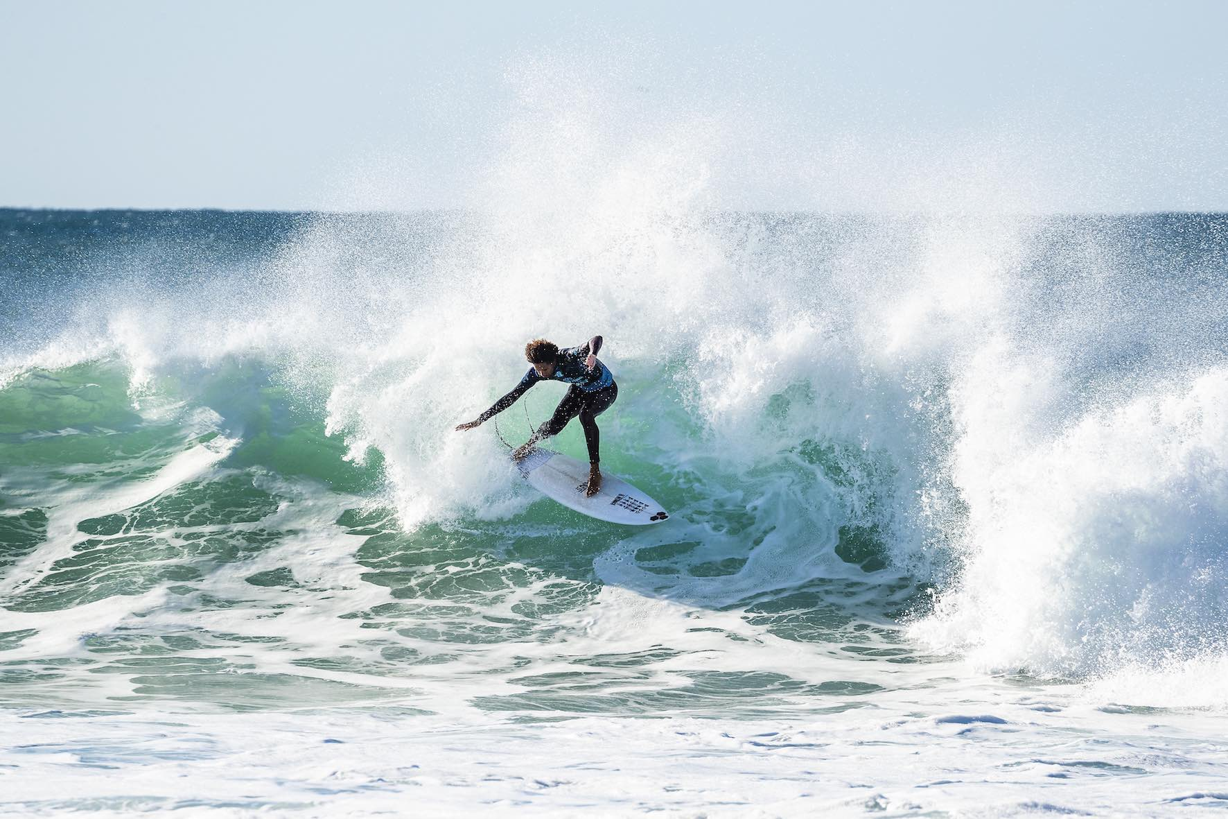 Michael February surfing in the 2018 Corona Open J-Bay