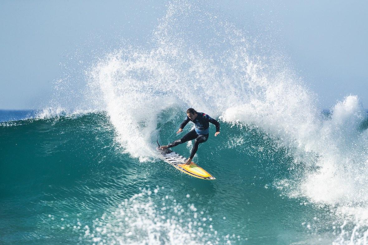 Jordy Smith surfing in the 2018 Corona Open J-Bay