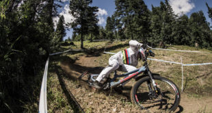 Watch the podium runs from the 2018 Downhill MTB World Cup from Mont-Sainte-Anne