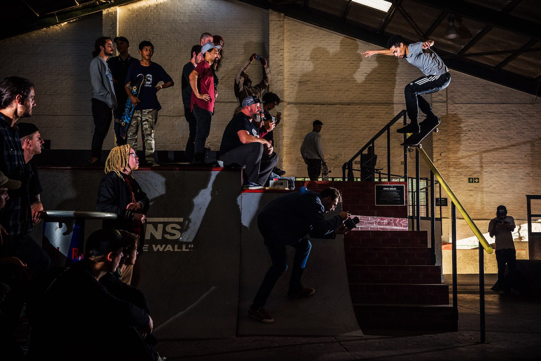 Allan Adams winning the Best Trick contest a The Shred Winter Jam skate contest