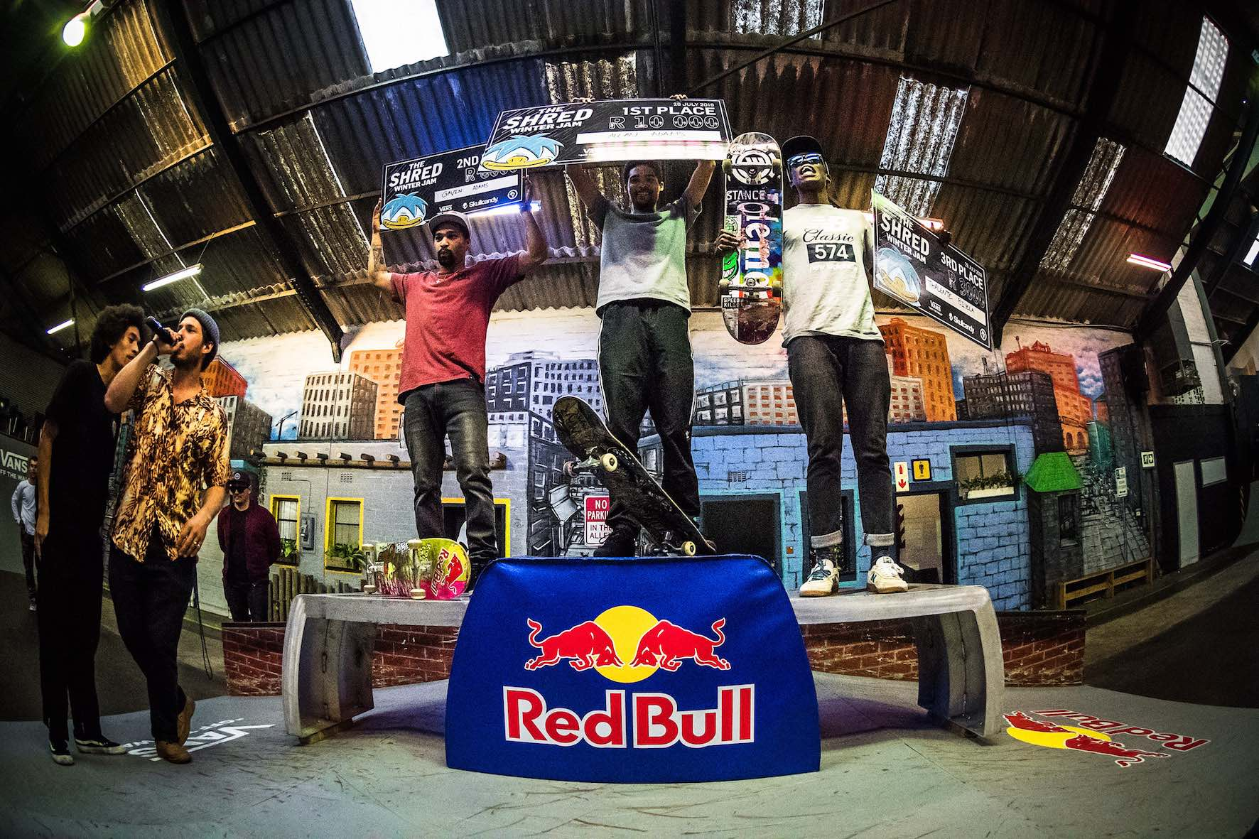 The Shred Winter Jam 2018 podium