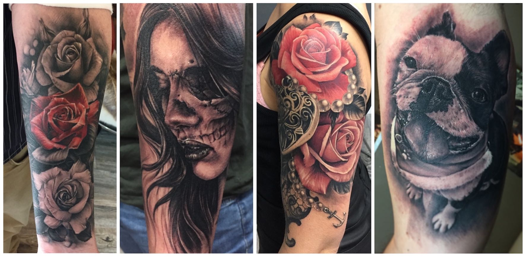 A selection at tattoos done by Dean Clarke
