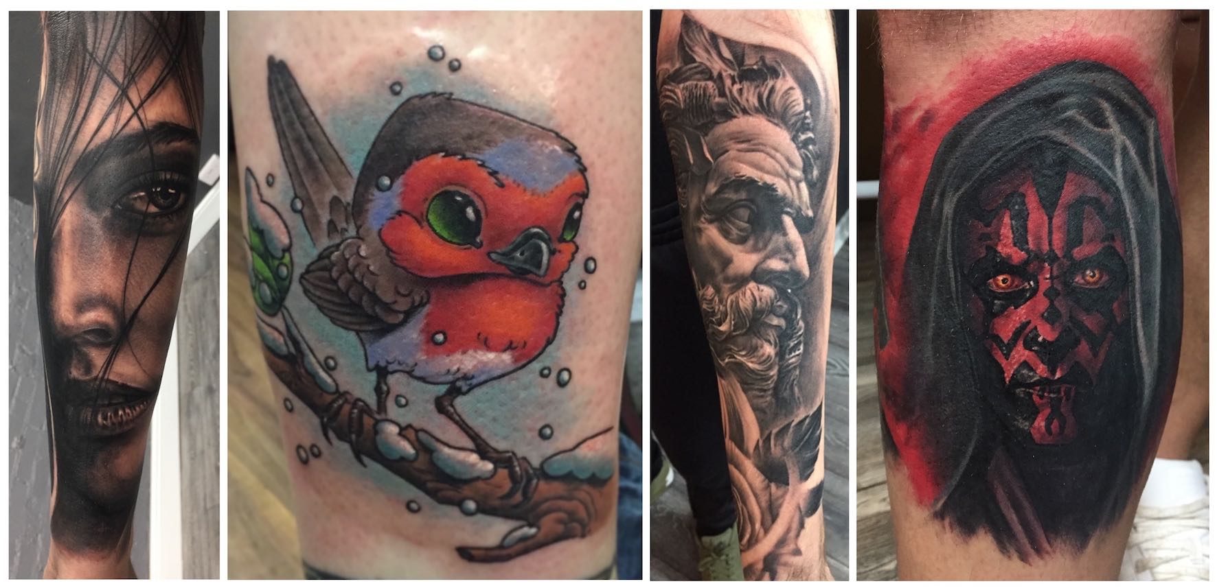 Tattoos done by Dean Clarke