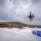 Kaylib Louw snowboarding in the 2018 Ultimate Ears Winter Whip