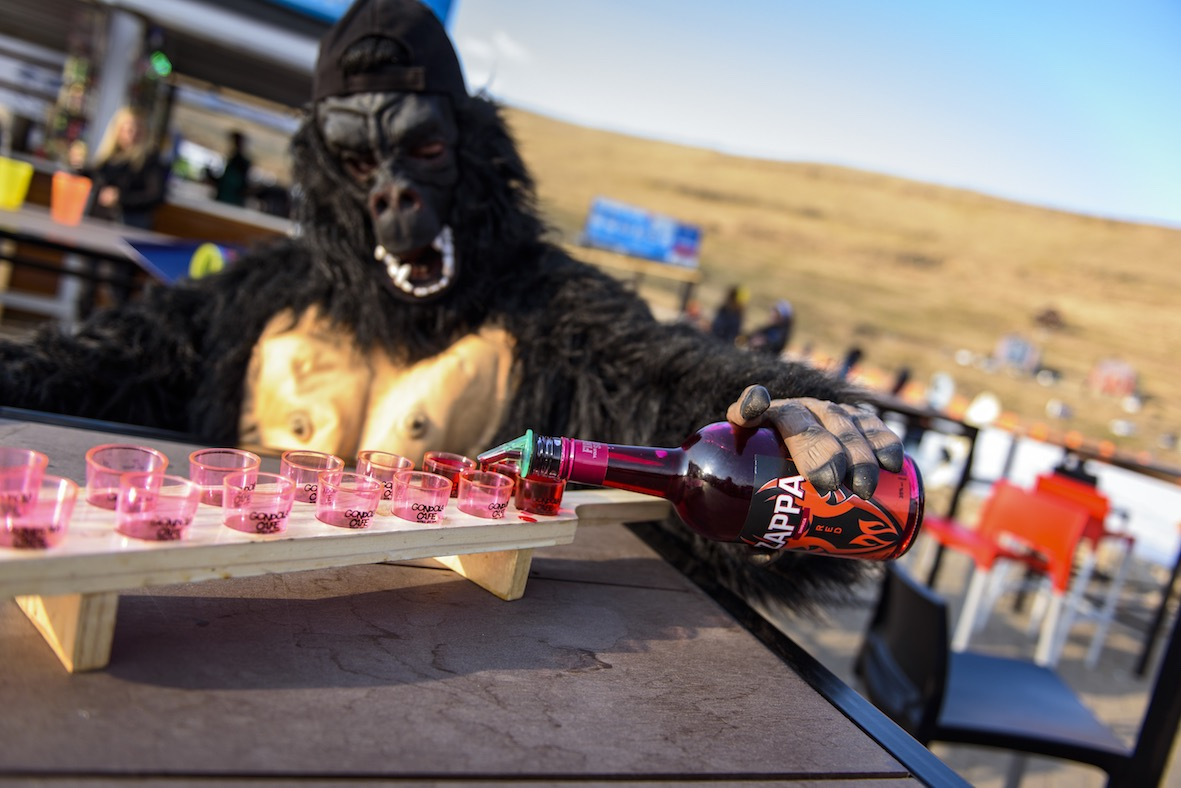 Zappa Sambuca getting the party started on the Afriski slope