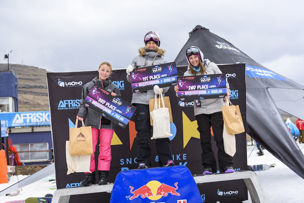 2018 Ultimate Ears Winter Whip Ladies Podium
