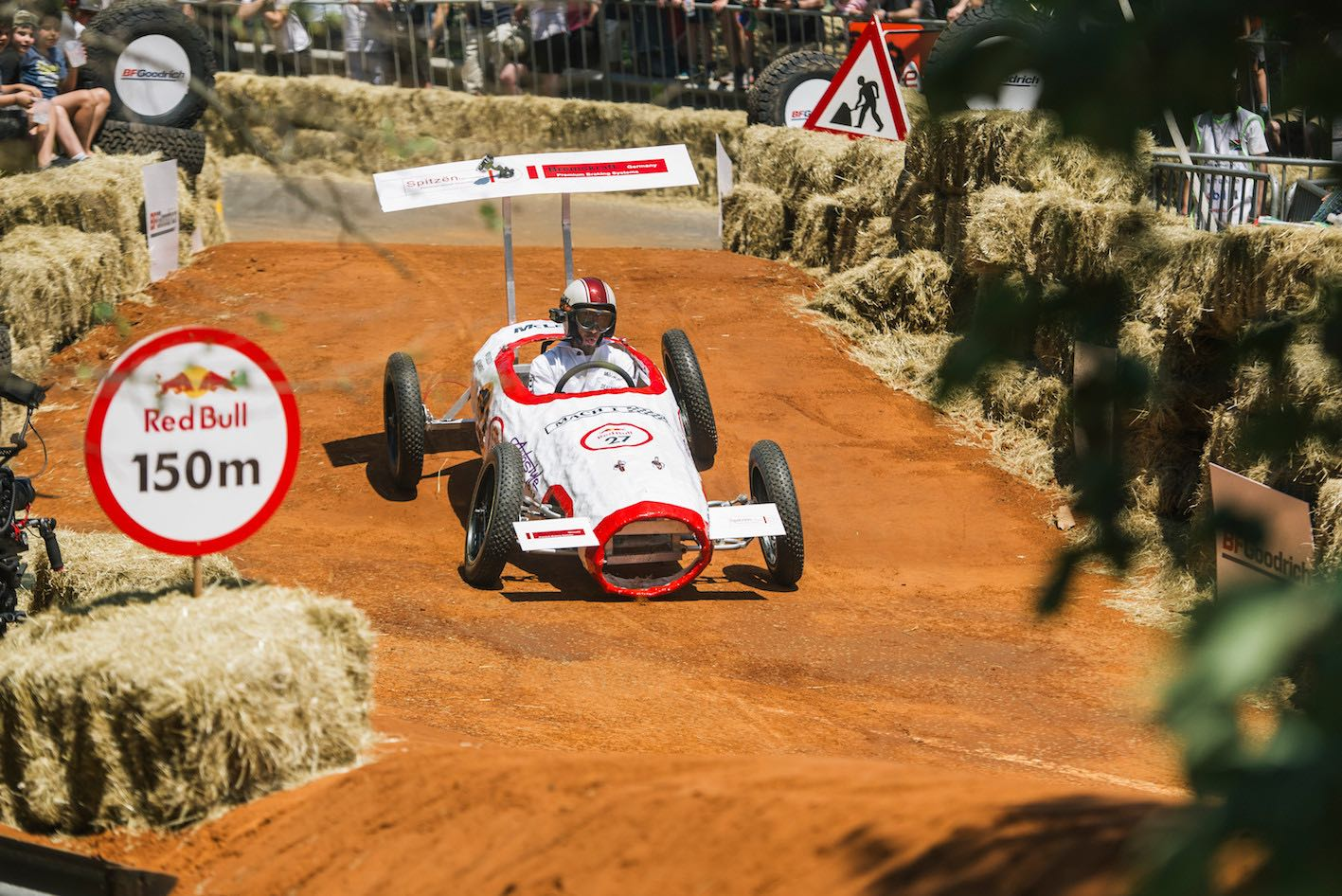 A Participant performs during Red Bull Box Cart Race
