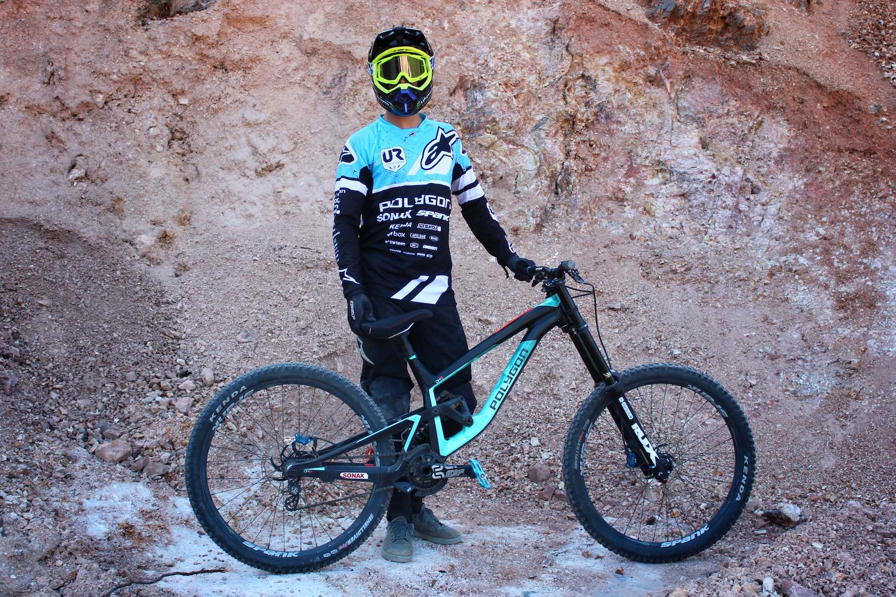 Sam Reynolds Polygon DH9 Audi Nines Bike