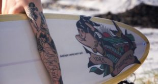 In celebration of the art and craft of Norman 'Sailor Jerry' Collins, Sailor Jerry collaborated with York Surf and PALM BLACK Tattoo Co. to create a Jerry inspired surfboard.