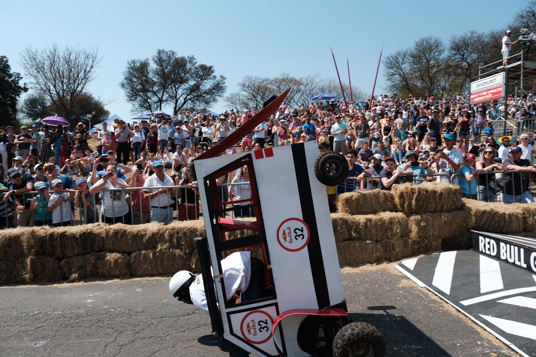 Biggest crash of the dat at the Red Bull Box Cart Race
