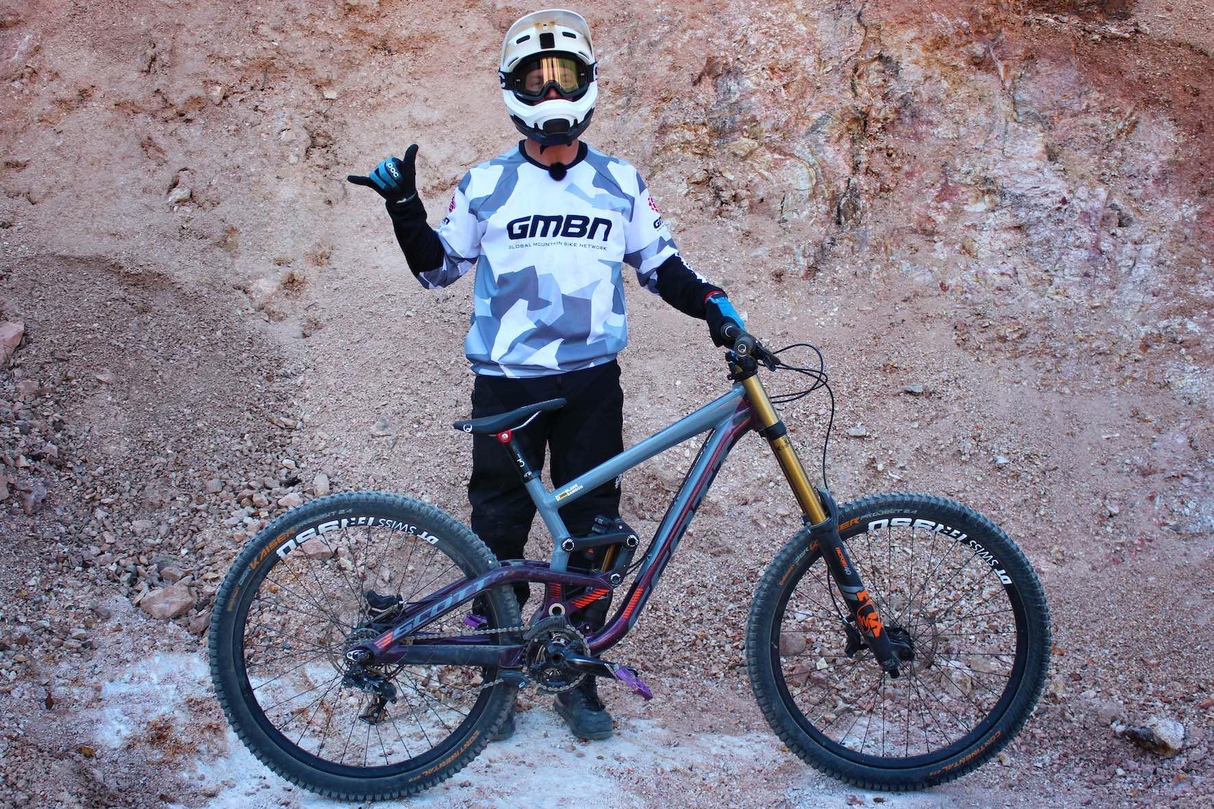 Blake Samson and his Downhill MTB rid at Audi Nines