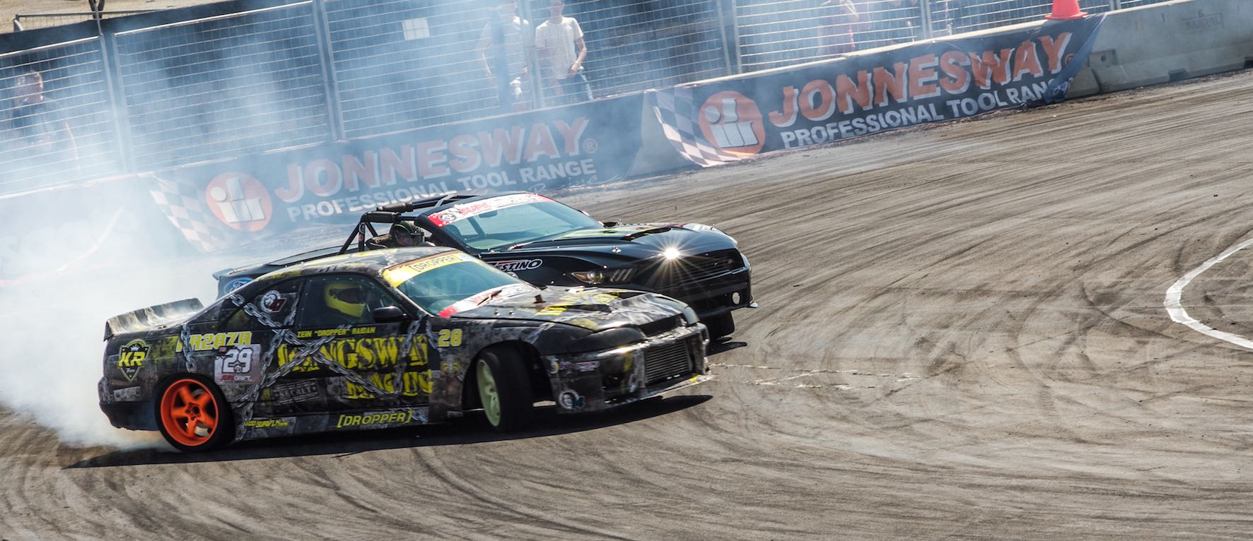 Drifting action from the final round of the 2018 SupaDrift Series