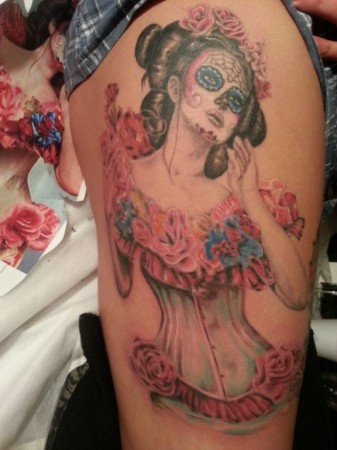 Awesome Day of the Dead tattoo by Ting