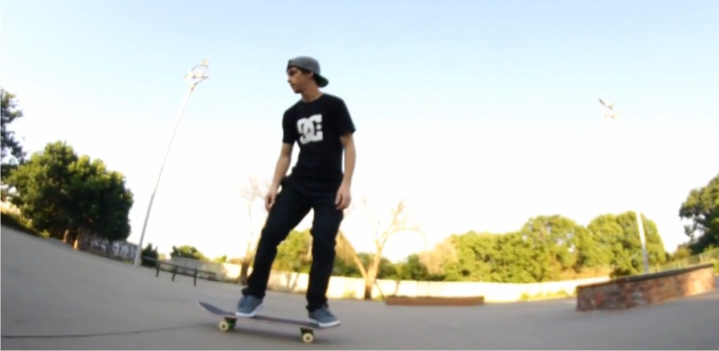 Adam Woolf teached some skateboarding skills