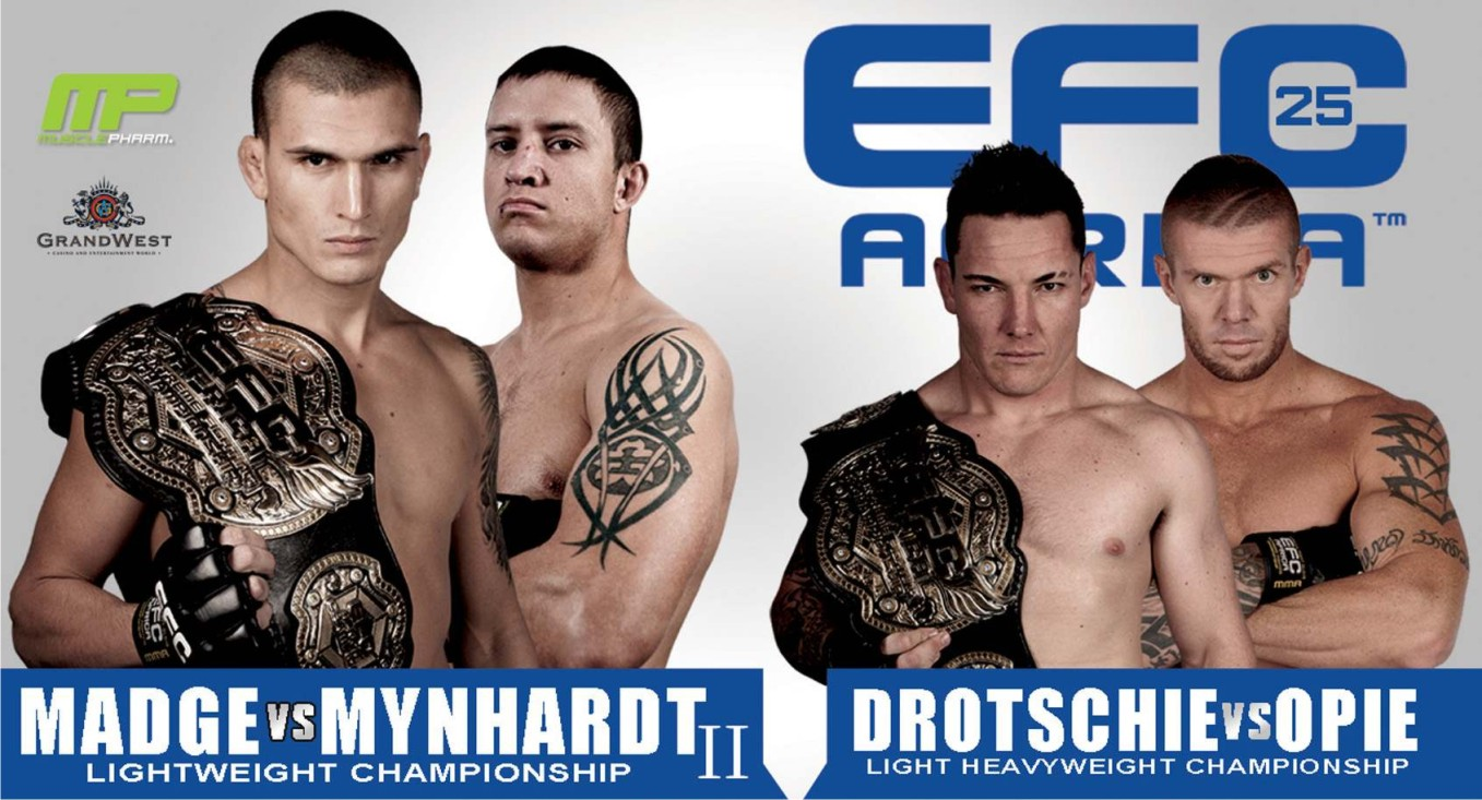 EFC Africa 25 Mixed Martial Arts championship heads to Cape Town