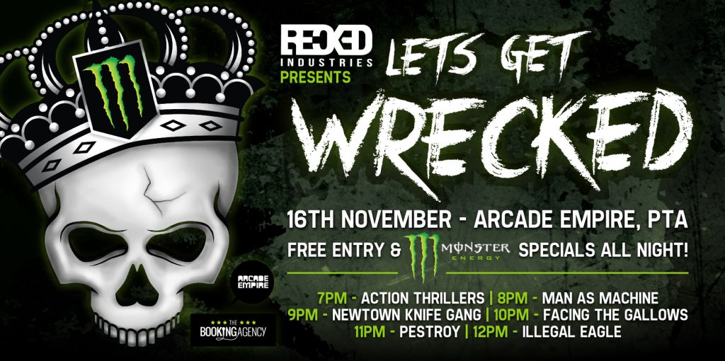 Recked Industries bring you top South African Music bands in one night