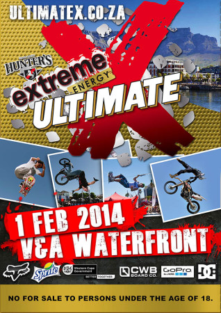 Ultimate X 2014 will feature BMX, Freestyle Motocross, Skateboarding, Wakeboarding and MTB