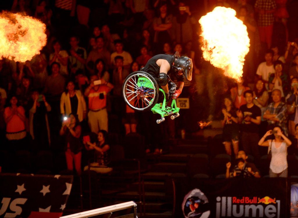 "Aaron ""Wheelz"" Fotheringham performing his Frontflip at Nitro Circus Live"