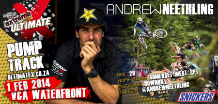 Andrew Neethling will be competeing in the MTB contest at Ultimate X 2014