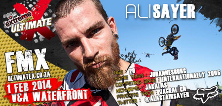 Alastair Sayer will be competeing in the Freestyle Motocross contest at Ultimate X 2014