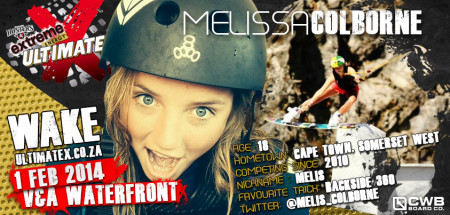Melissa Colbourne will be competeing in the Wakeboarding contest at Ultimate X 2014