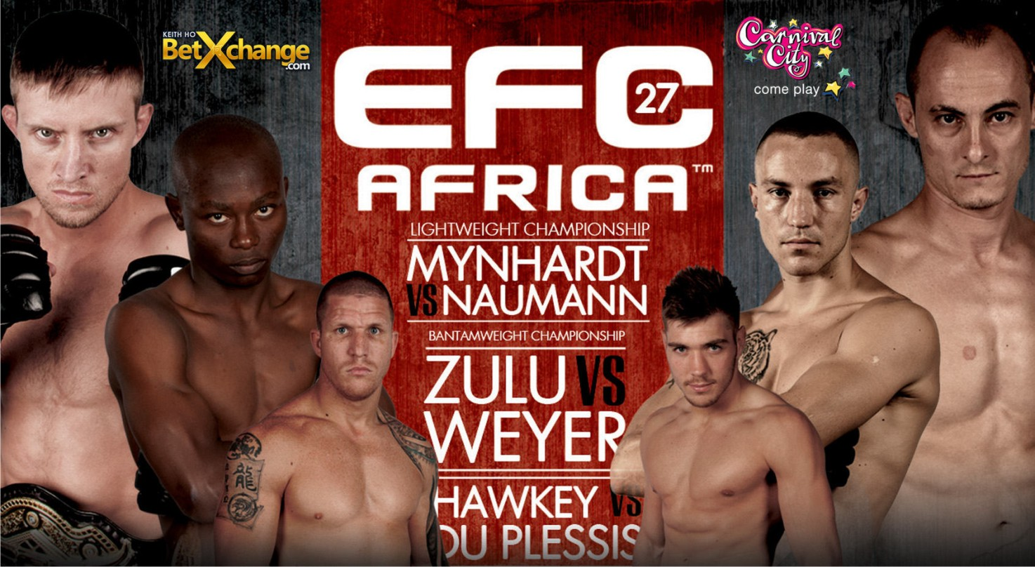 The first MMA fight night of 2014 is set to go at EFC Africa 27