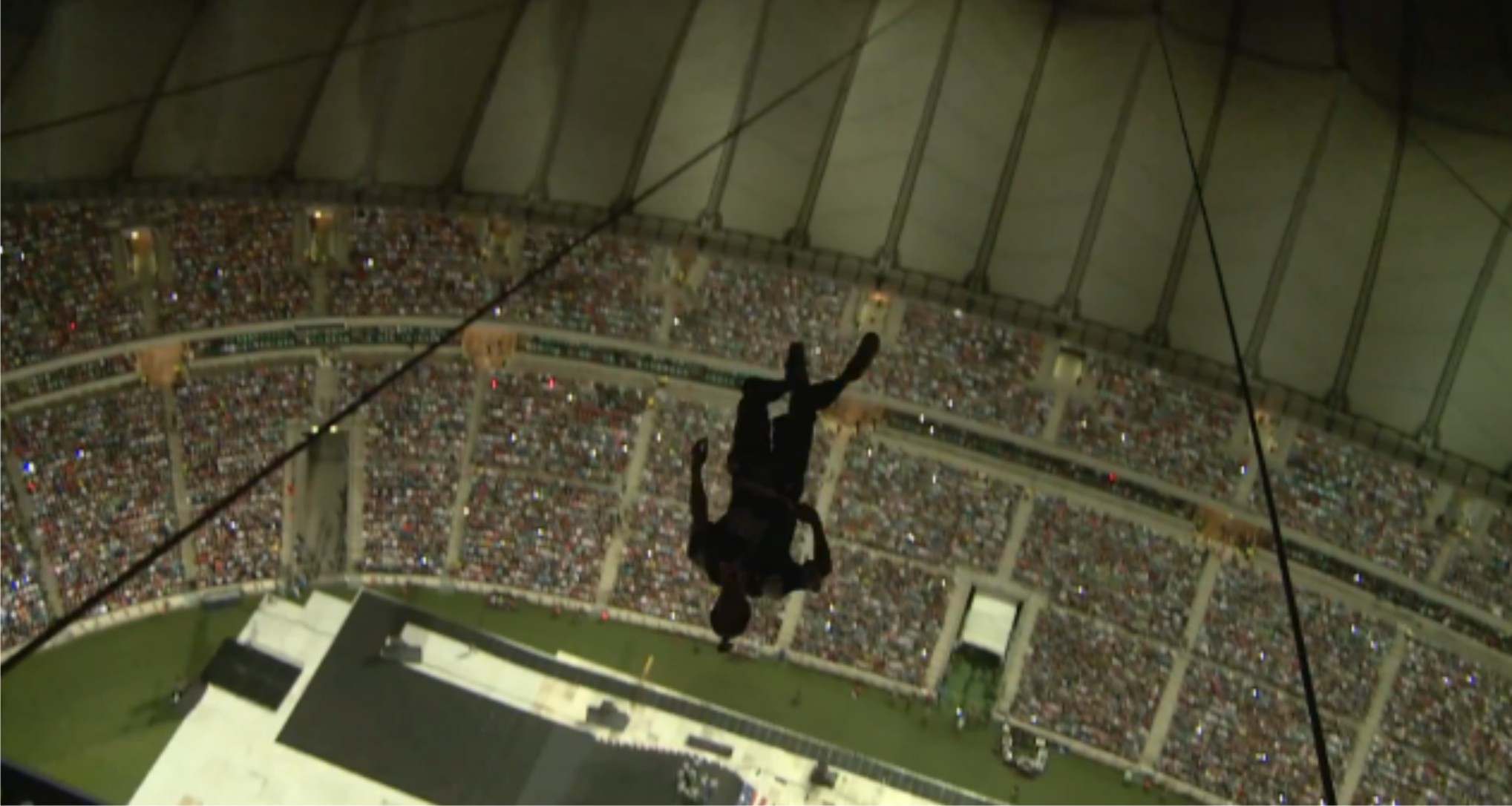 Erik Roner bas jumps into the Nitro Circus Live staduim in Durban South Africa