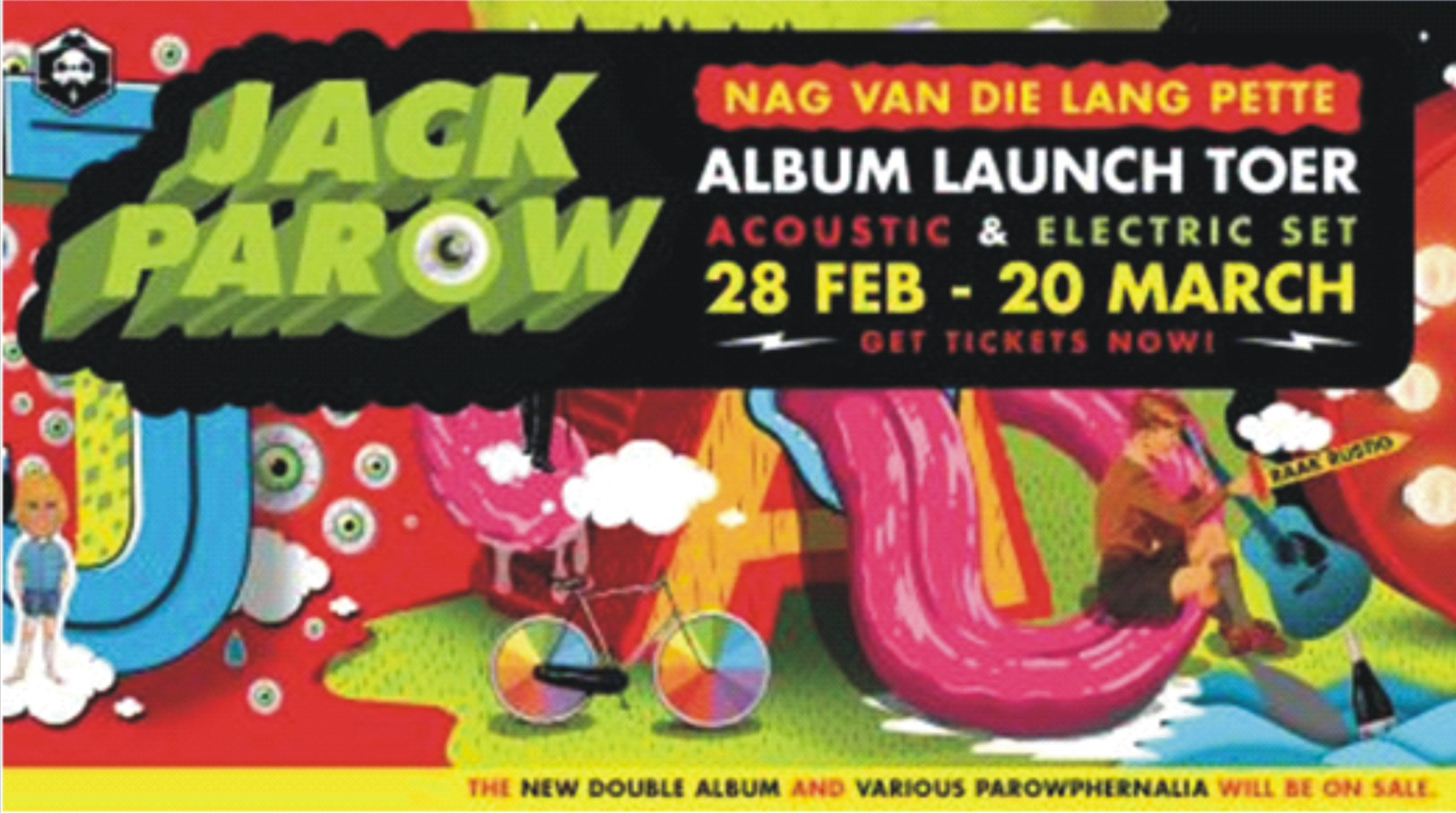Jack Parow is set to take his album launch tour to his SA music fans