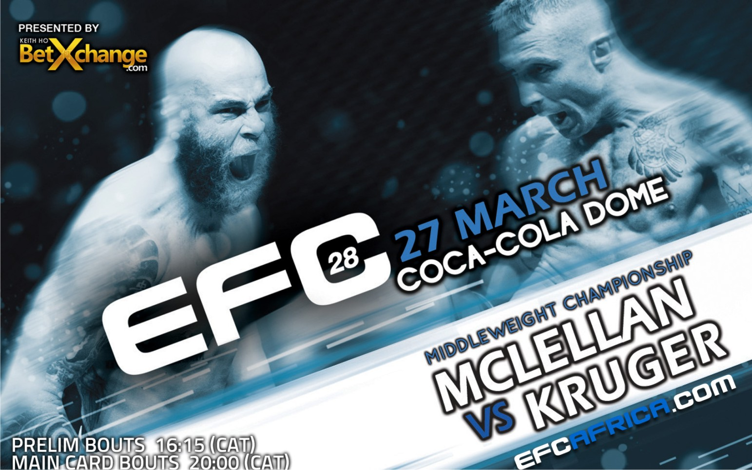 EFC Africa 28 set to rock the Coca Cola Dome with 13 MMA fights