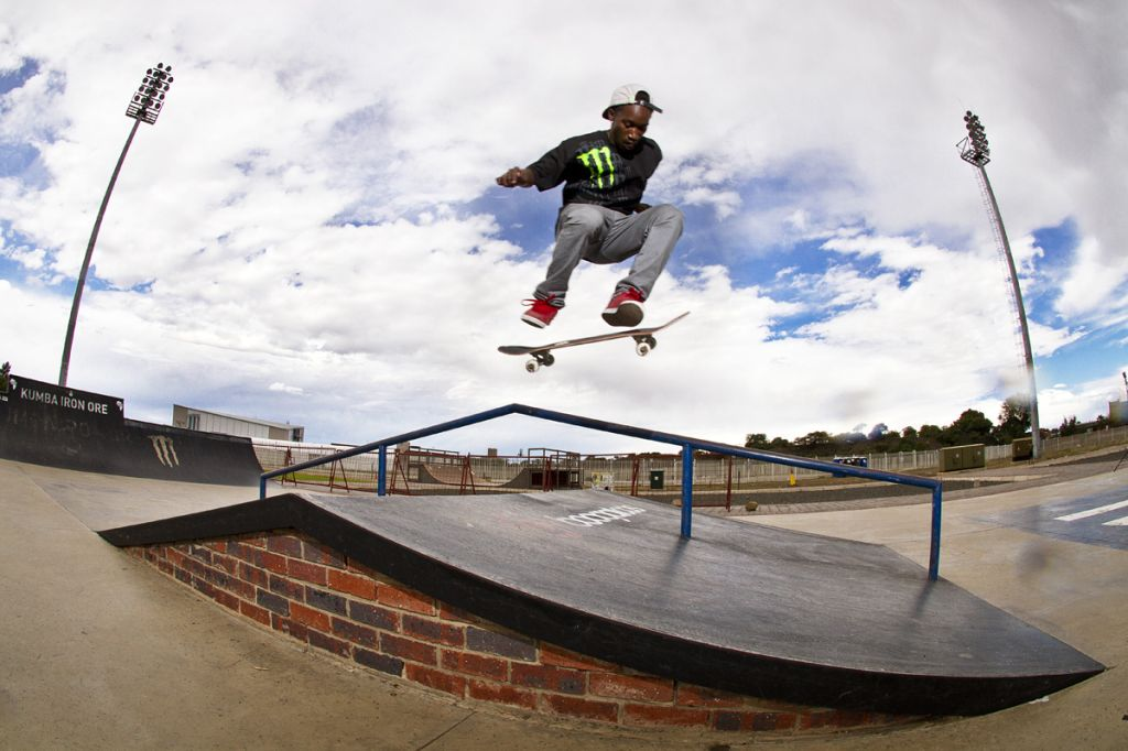 Khule Ngubane Skateboarding his way to the Midway Mayhem win