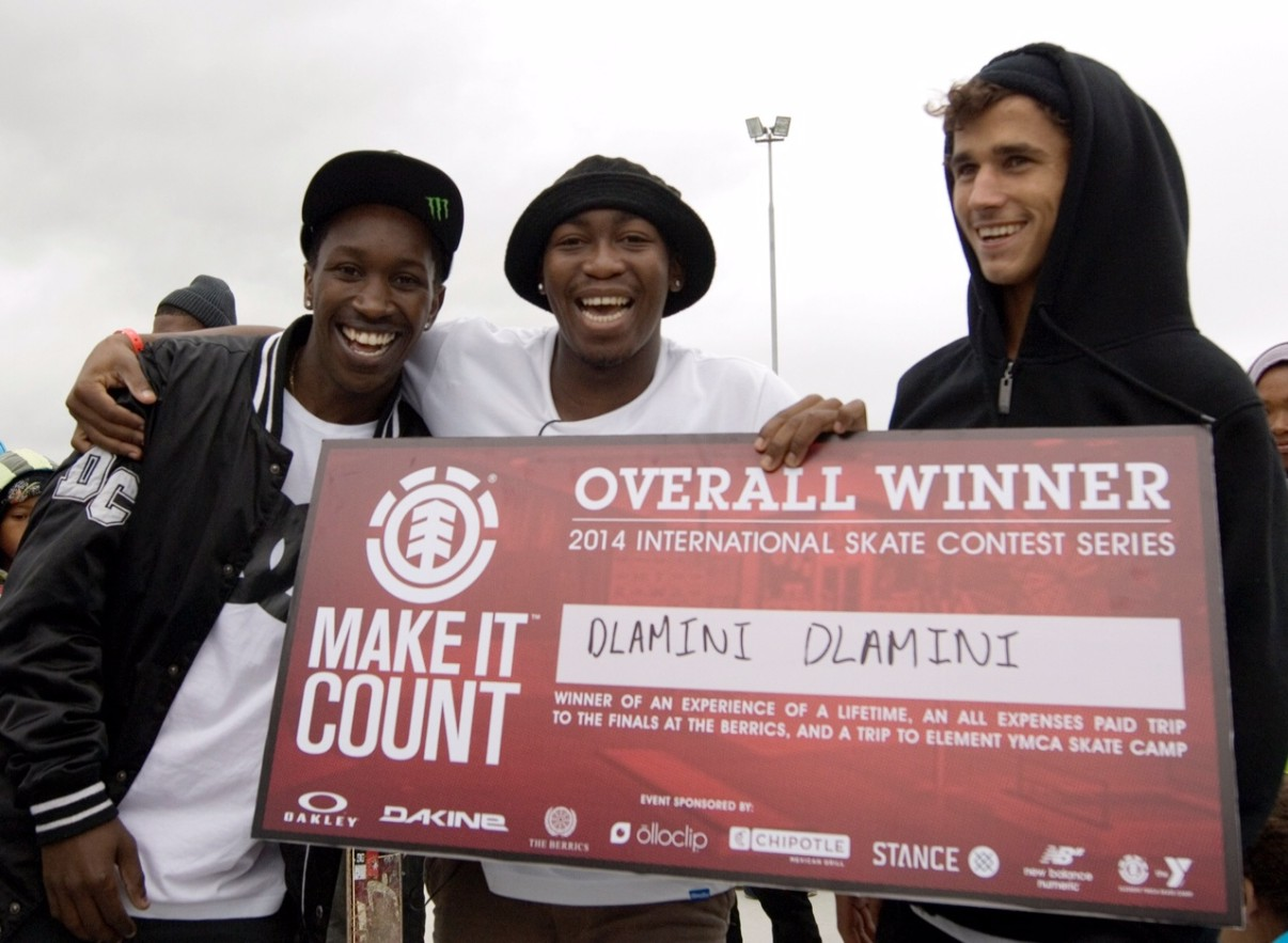 Element Make It Count Skateboarding contest podium