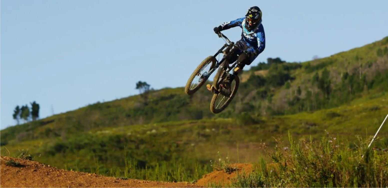 Downhill MTB rider Andrew Neethling chats Leatt protective gear