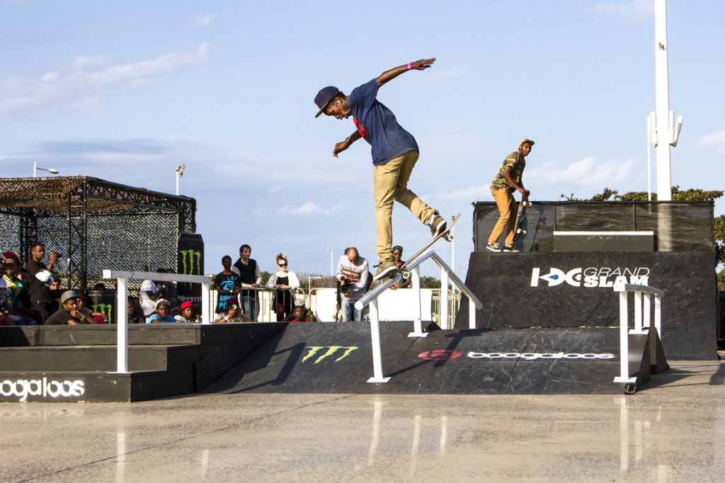 Khule Kngubabe skateboarding his way to victory at the KDC Grand Slam in Durban
