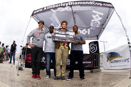 Best Trick Podium at the KDC Grand Slam skateboarding event