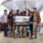 Over 17 Podium at the KDC Grand Slam skateboarding event